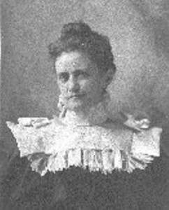 Annie Diggs, Kansas State Librarian, circa 1900? (Courtesy of The Kansas State Historical Society, Topeka)